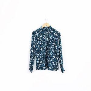NWT Gap Floral Ruffled Shirt